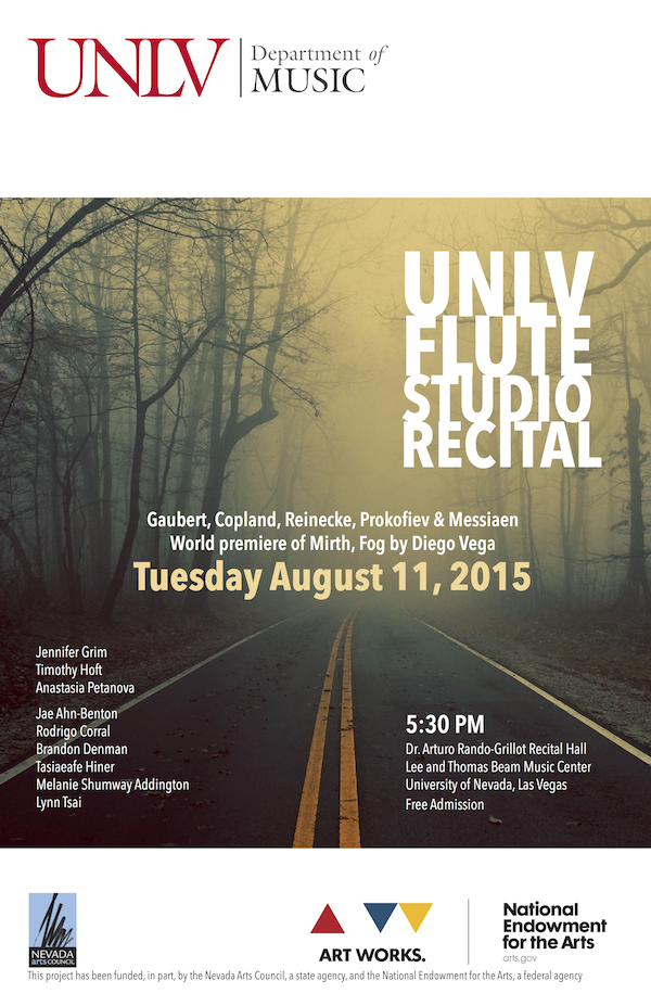 UNLV Flute Recital 20150811 poster copy